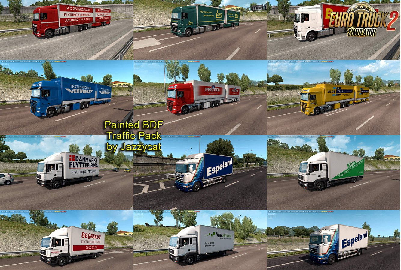 Painted BDF Traffic Pack v4.7 by Jazzycat