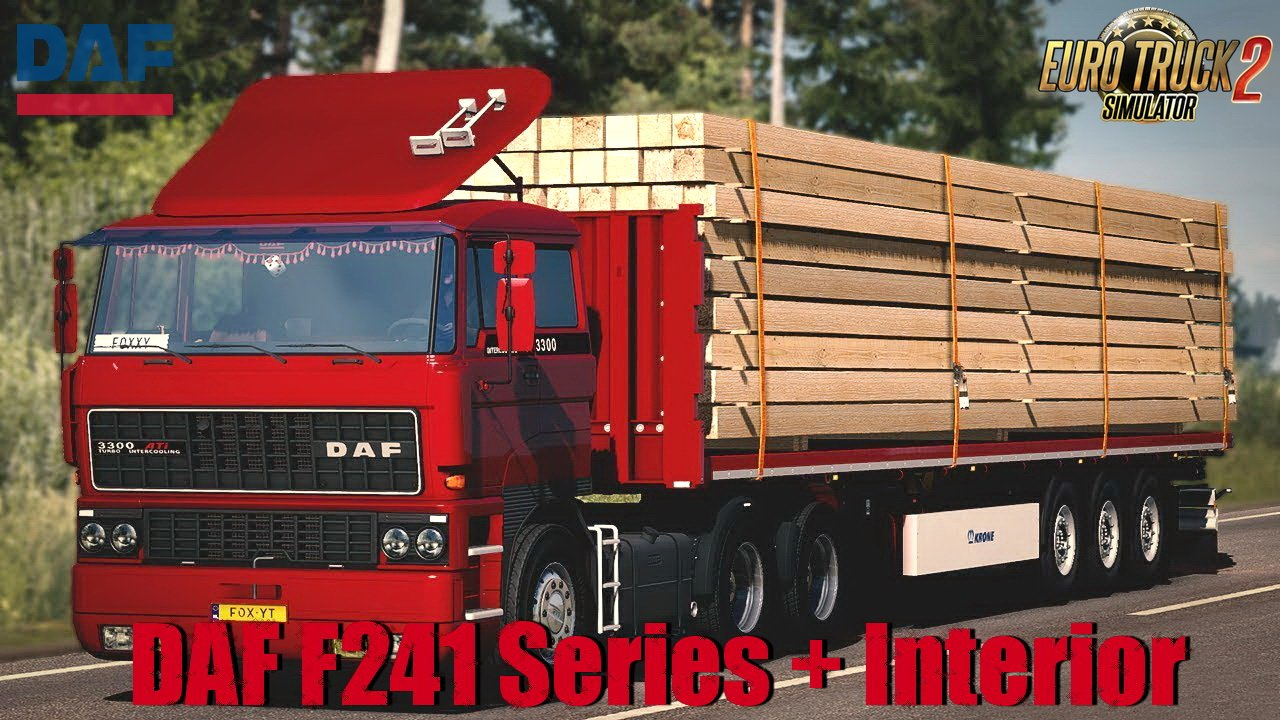DAF F241 Series + Interior v1.2 by XBS (1.35.x)
