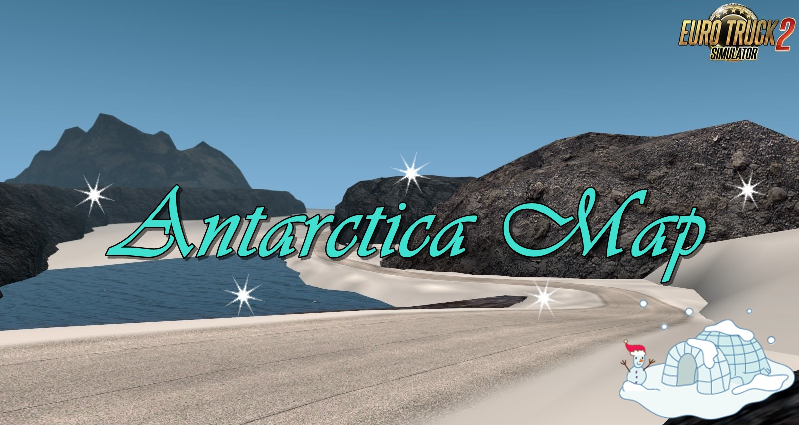 Antarctica Map v0.2 for Ets2