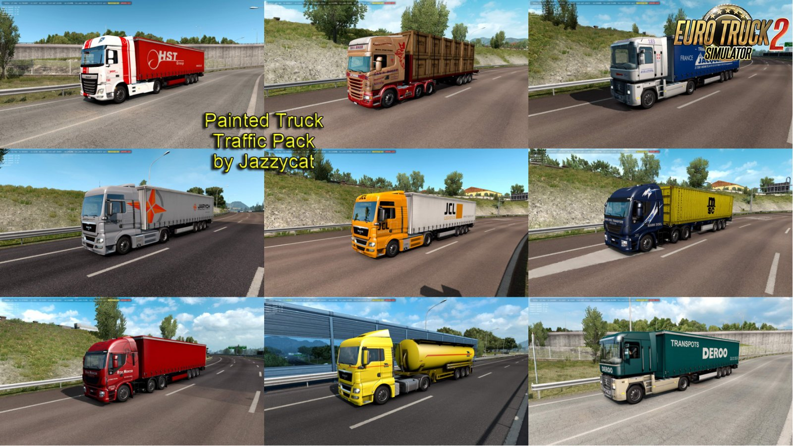 Painted Truck Traffic Pack v7.2 by Jazzycat