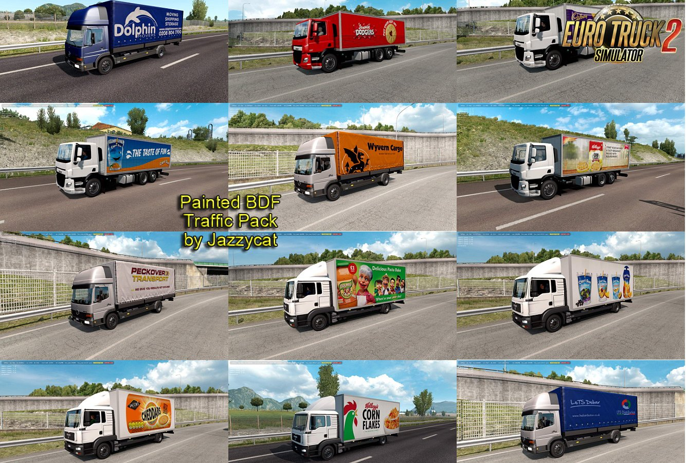 Painted BDF Traffic Pack v4.8 by Jazzycat
