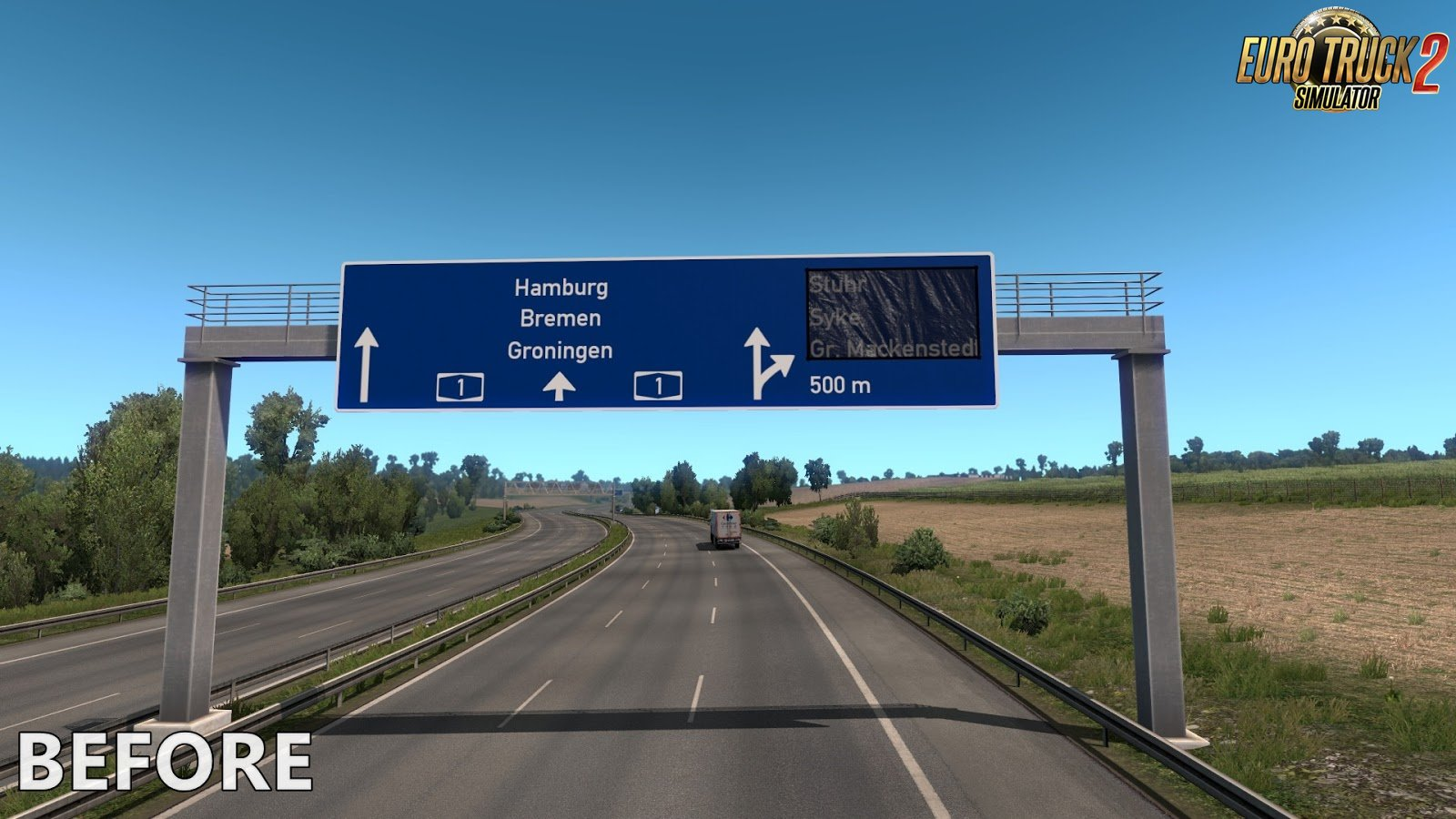 Realistic Signs v1.1 for Ets2