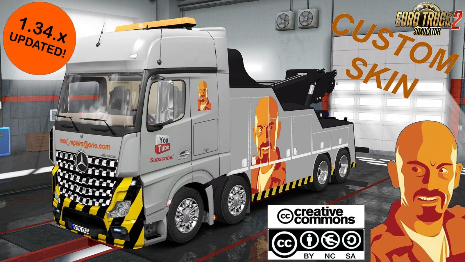Custom Skin for Mercedes Benz MP IV Crane Truck