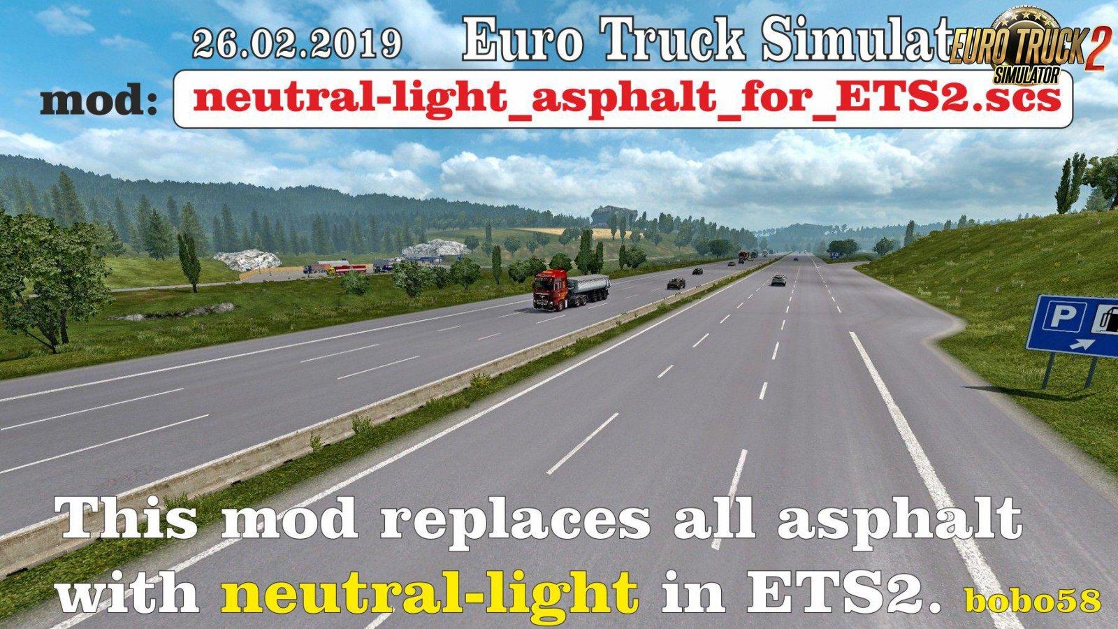 Neutral Light Asphalt for Ets2