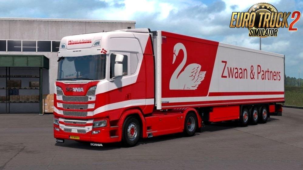 Scania S Next Generation Zwaan & Partners Logistic Combo Skin v1.0 (1.34.x)