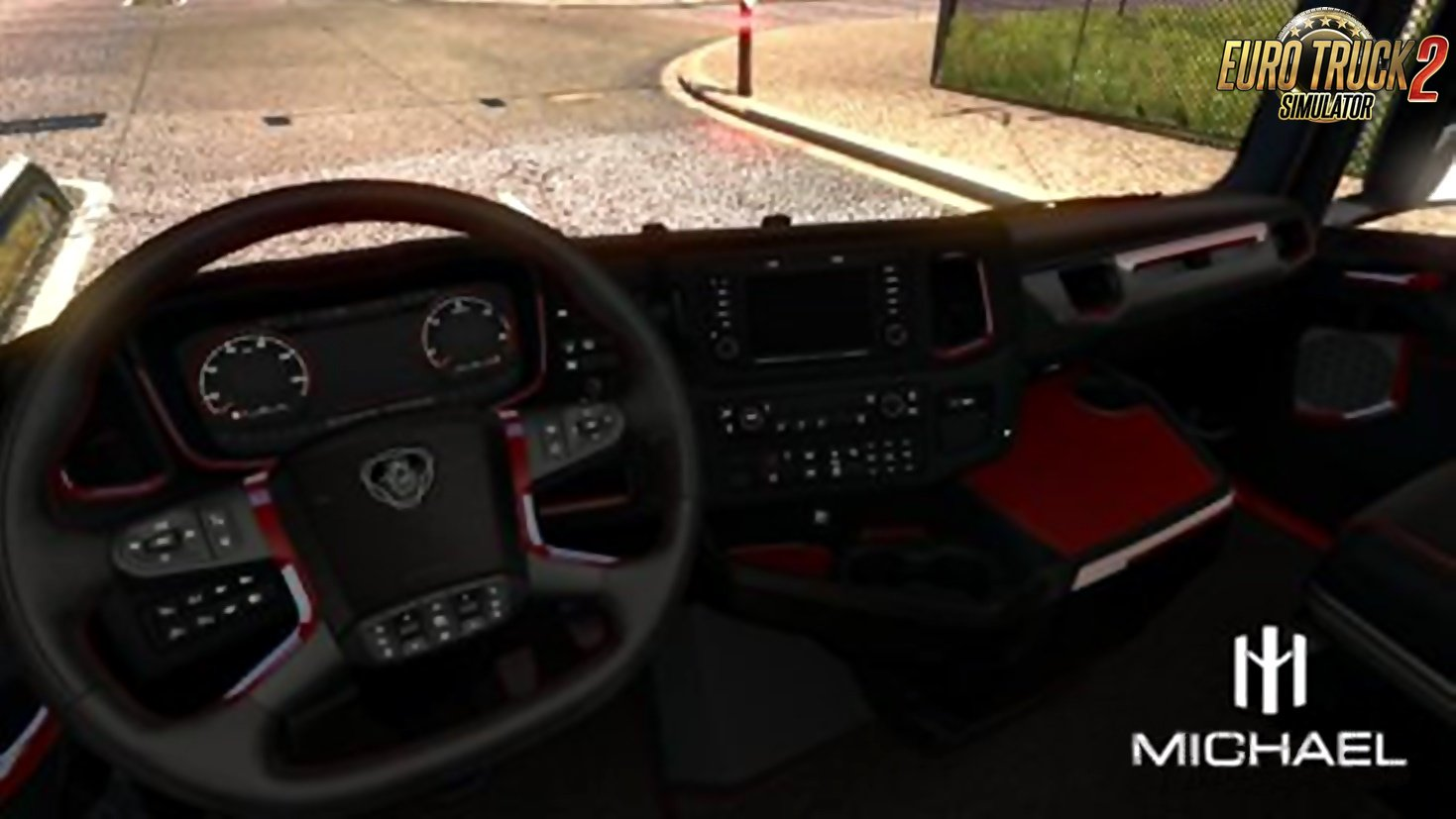 Scania Next Generation Red interior for Ets2