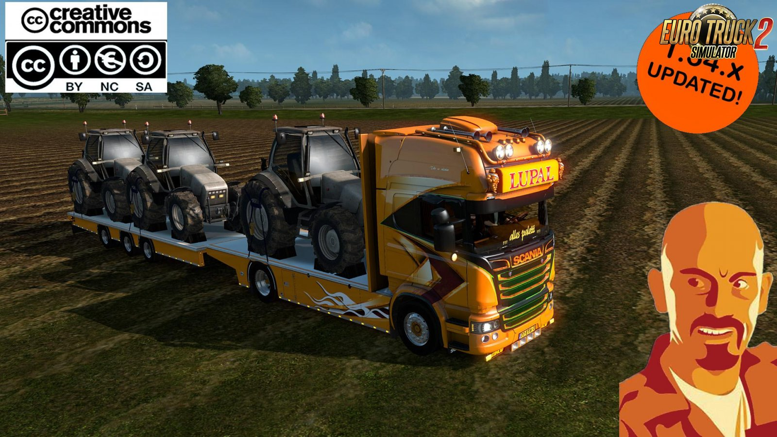 Scania Lupal and Trailer Owned for Ets2