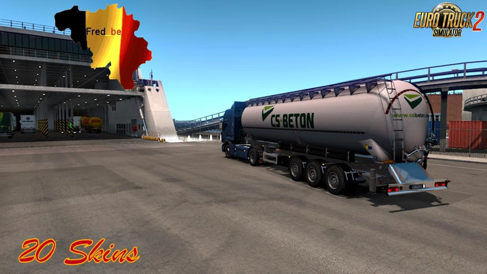 Trailer Pack Cistern (Cement) v1.0 for Ets2