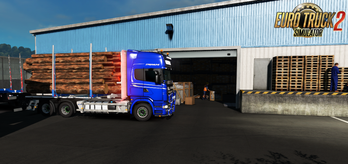 JYKI Timber Tandem Trailer v1.2 for Ets2