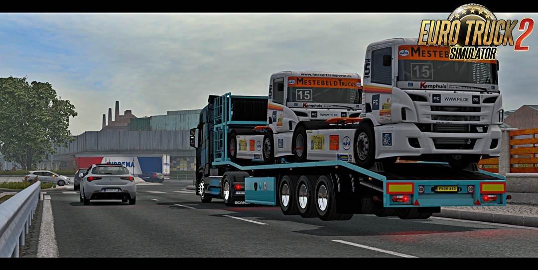 Trailer Truck Racing Transporter for Ets2