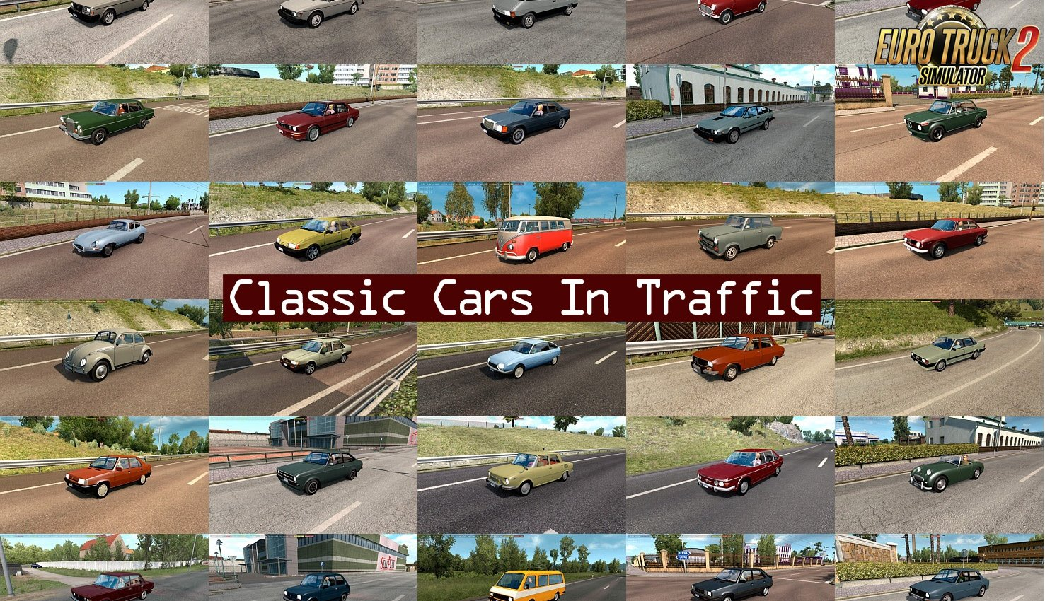 Classic Cars Traffic Pack v3.0 by TrafficManiac (1.35.x)