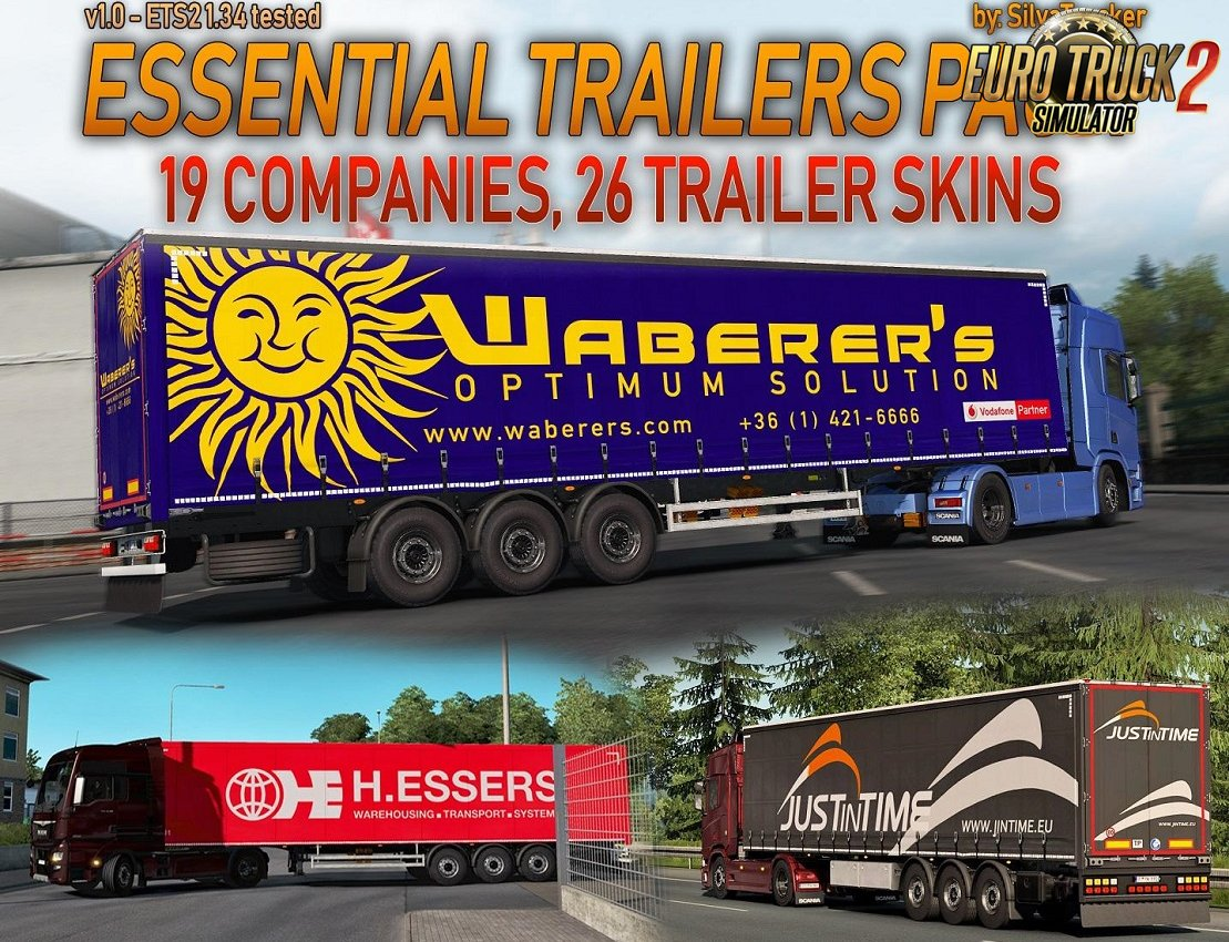 Essential Trailers Pack for Ets2