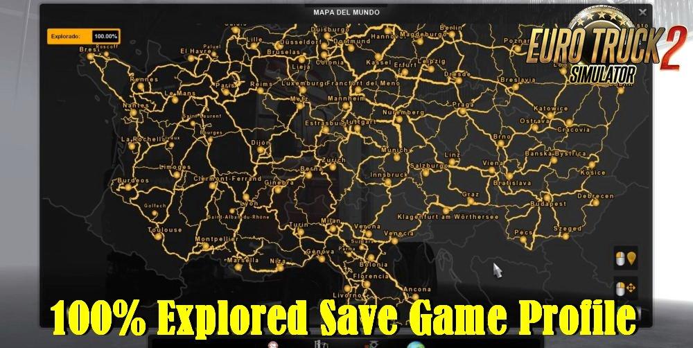 100% Explored Save Game Profile v1.0 (1.34.x)