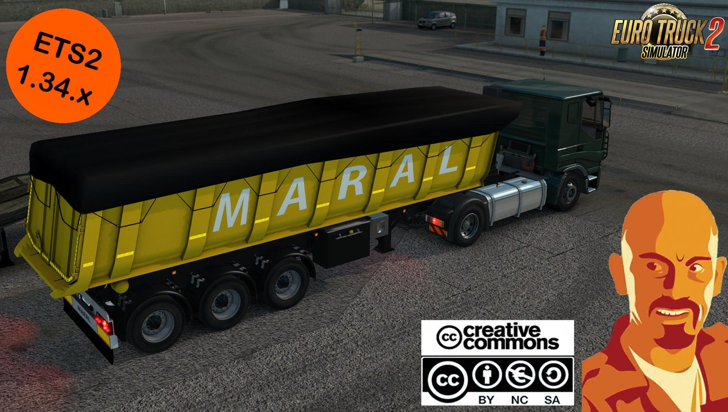 Maral Tipper Trailer Reworked for Ets2