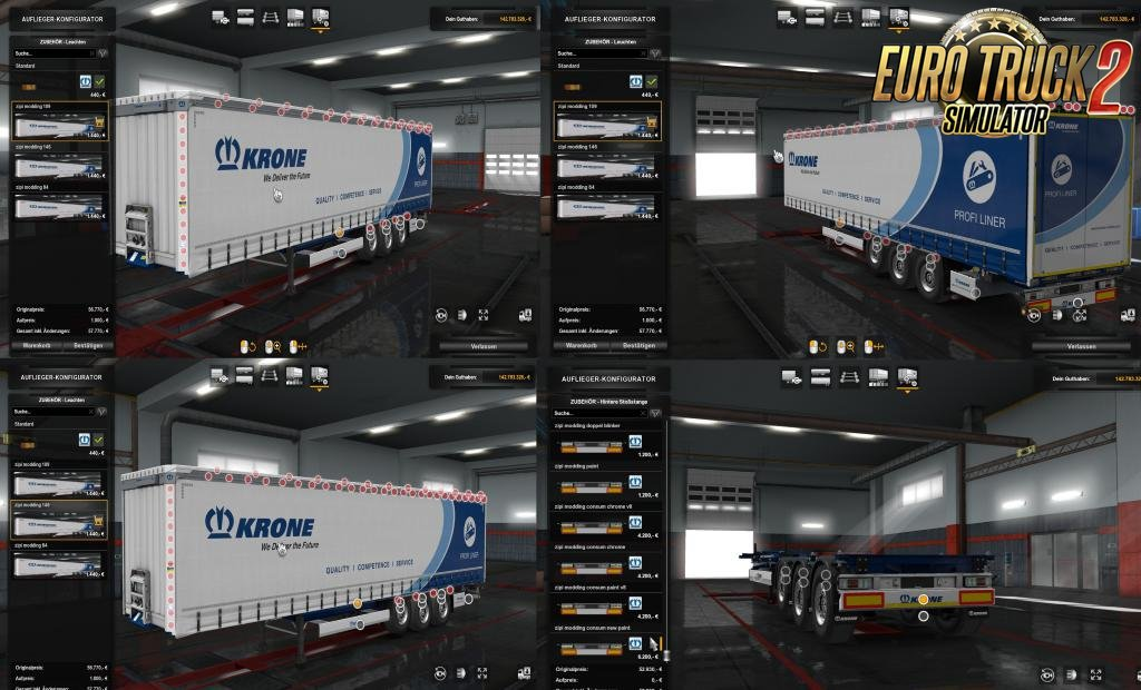 Slots for KRONE Trailers v0.29 in Ets2