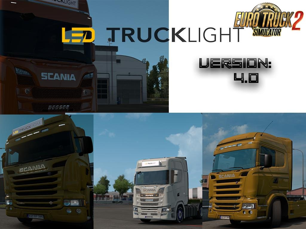LED Trucklight Mod v4.0 for Ets2