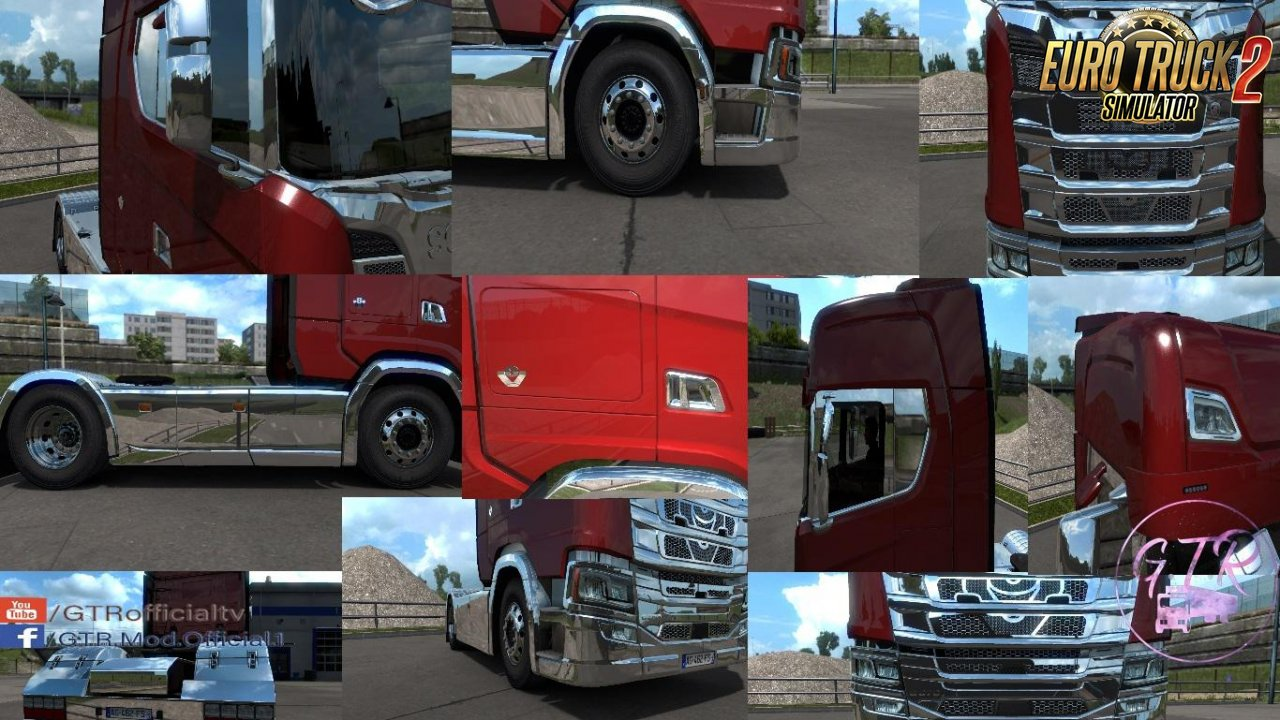 Scania S & R Next Gen Accessories Chrome v1.1 by GTR