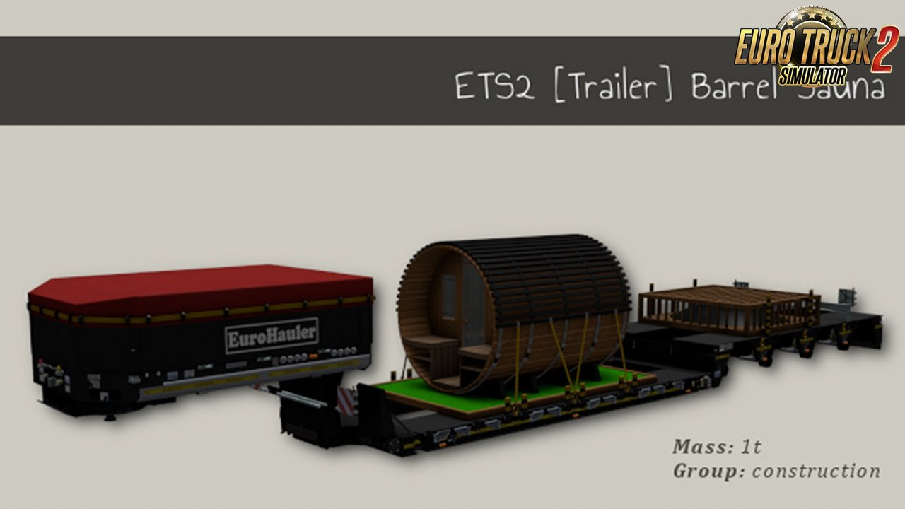 Trailer Barrel Sauna for Ets2