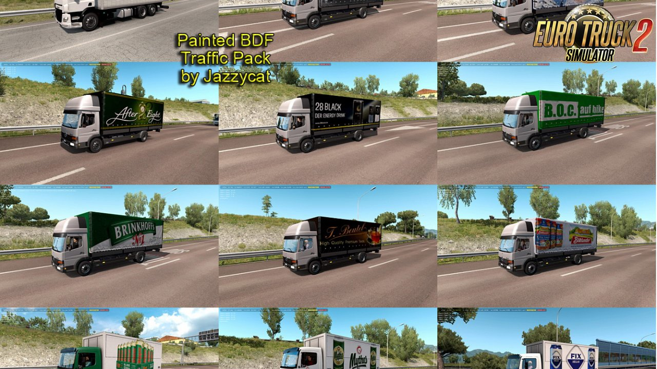 Painted BDF Traffic Pack v5.4 by Jazzycat (1.35.x)
