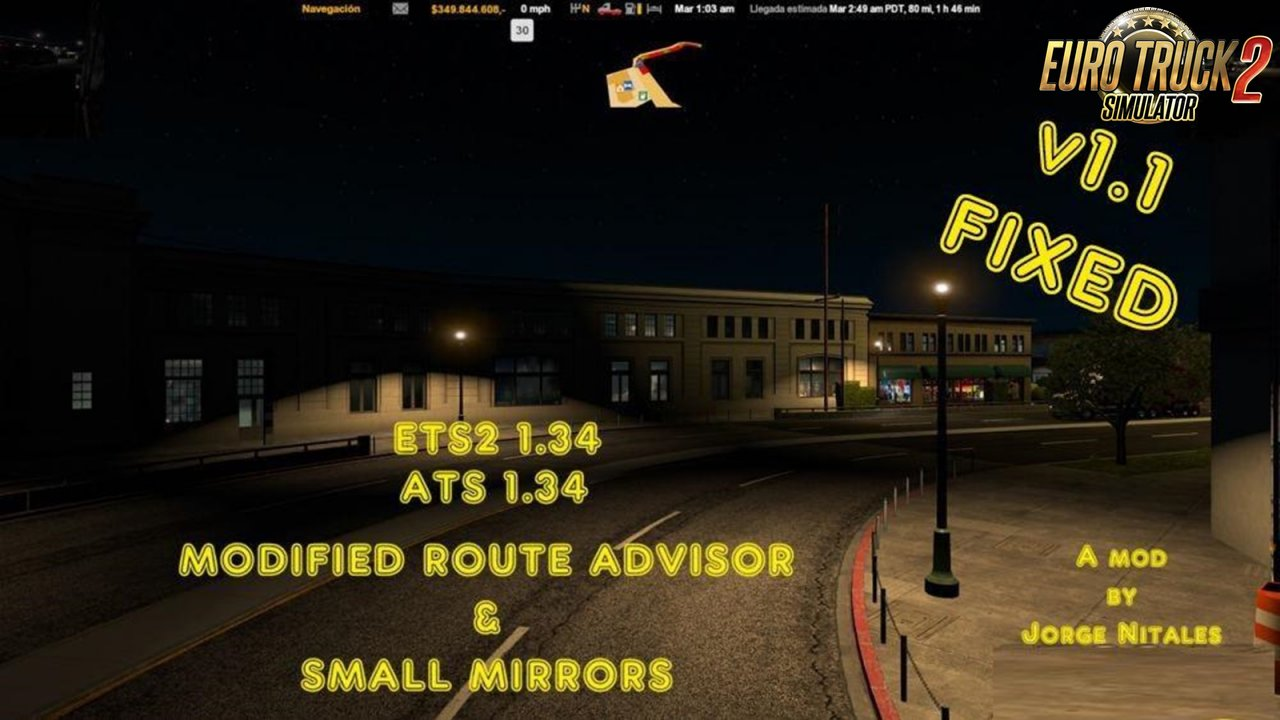 Modified Route Advisor and Small Mirrors v1.1 [1.34.x]