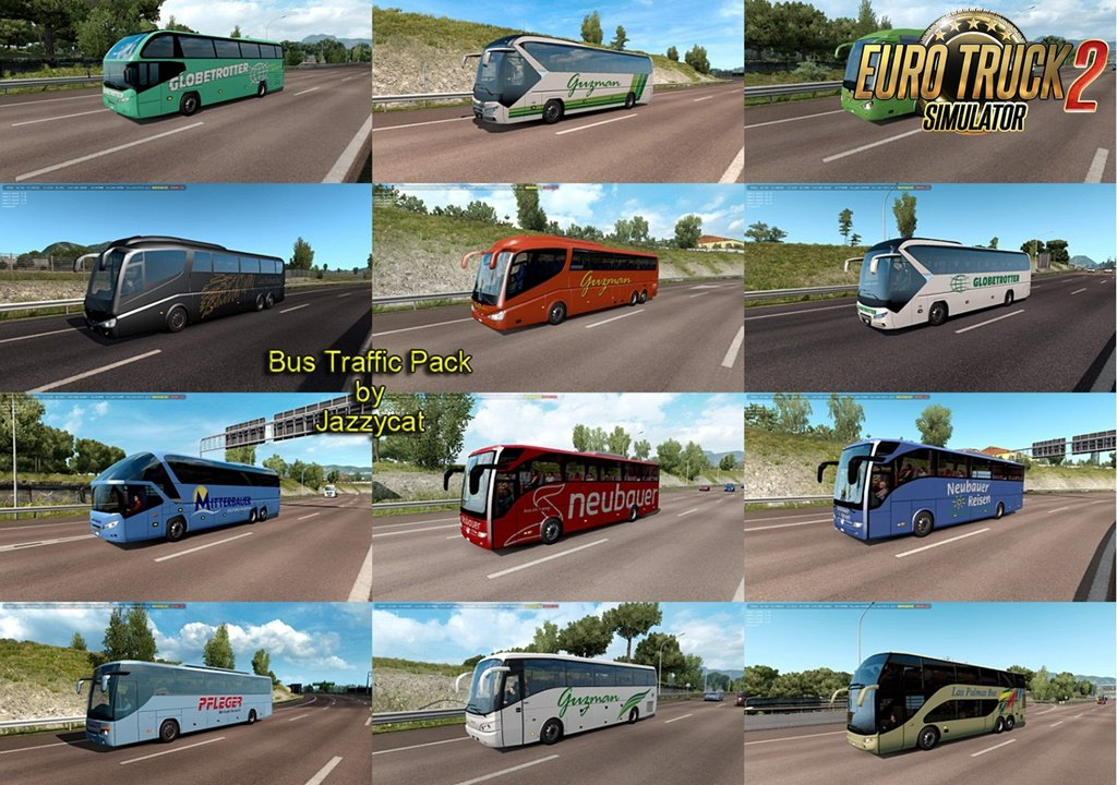 Bus Traffic Pack v6.9 by Jazzycat