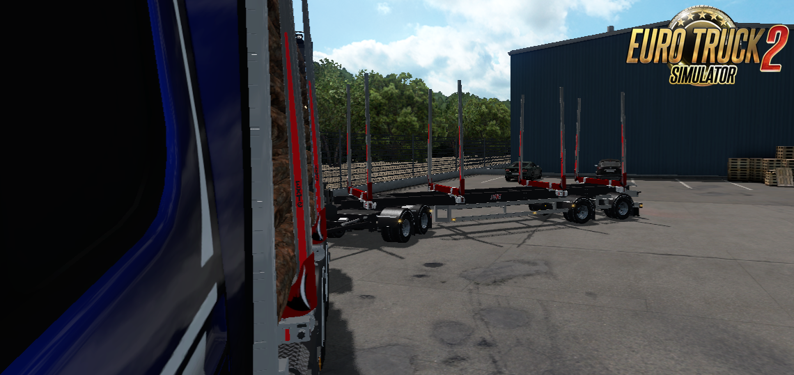 JYKI Timber Tandem Trailer v1.3 for Ets2