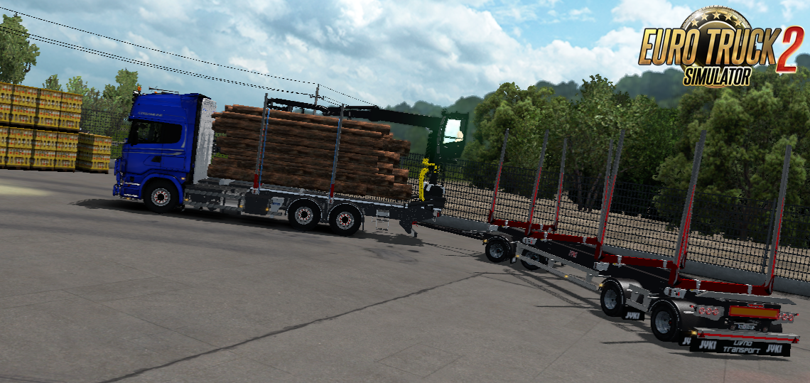 JYKI Timber Tandem Trailer v1.3.3 for Ets2