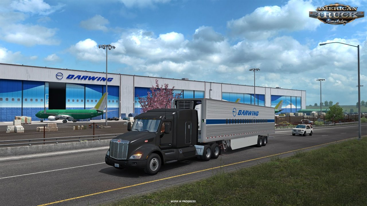Washington DLC: Everett Aerospace Factory in American Truck Simulator