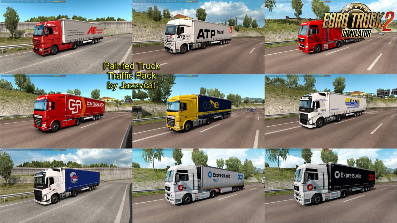 Painted Truck Traffic Pack v7.9 by Jazzycat