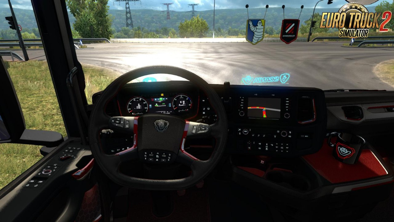 Scania 2016 R & S Red Black Lux Interior [1.35.x]