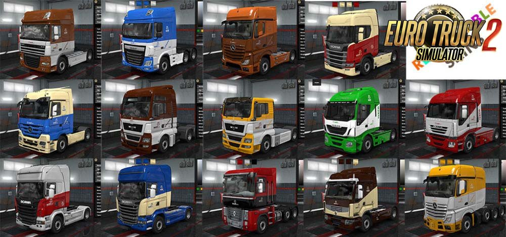 Wolf Truck Skins and Profile Logos v1.5 (1.35.x) for ETS2