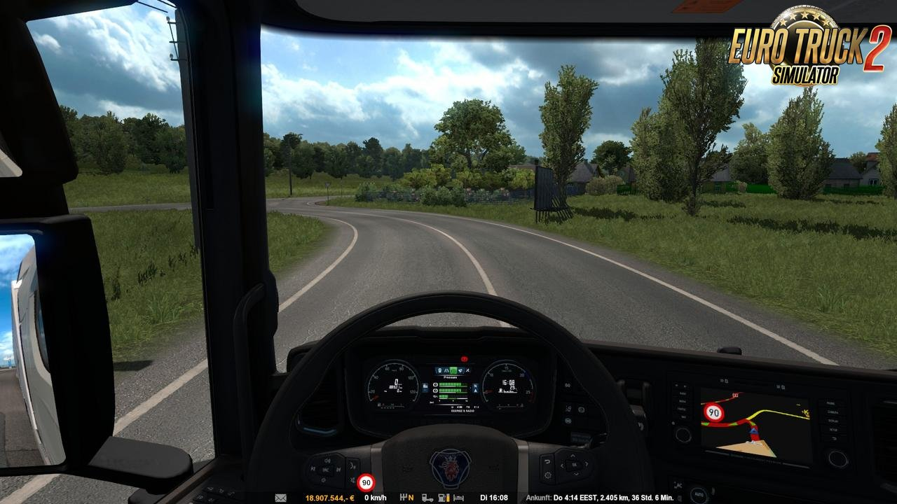 Enlarged speed limit sign for Ets2
