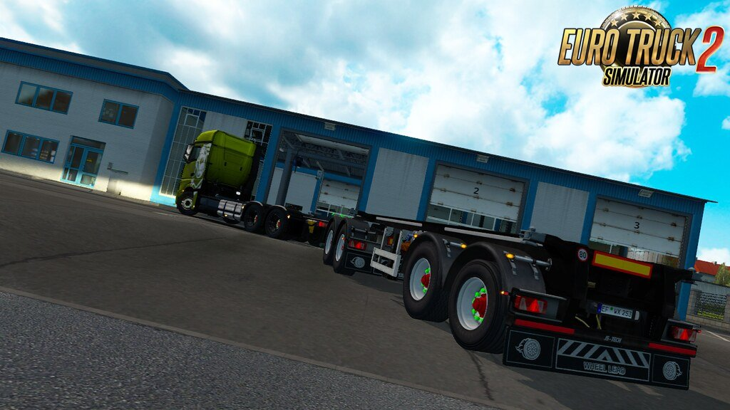 SCS Container Rigid trailer by Teklic v1.0. [1.35.x]