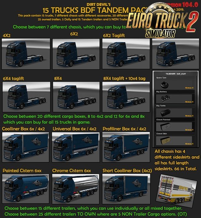 BDF Tandem Truck Pack v104.0 by Flemming V