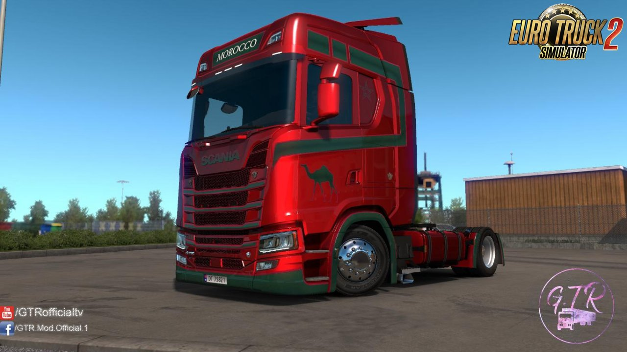 Skin Morocco for Scania S Next Gen v1.2 by GTR (1.35.x)