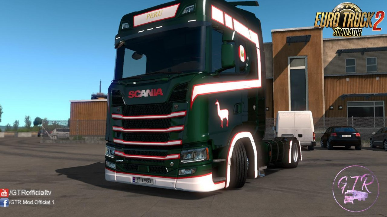 Skin Peru for Scania S Next Gen v1.2 by GTR (1.35.x)