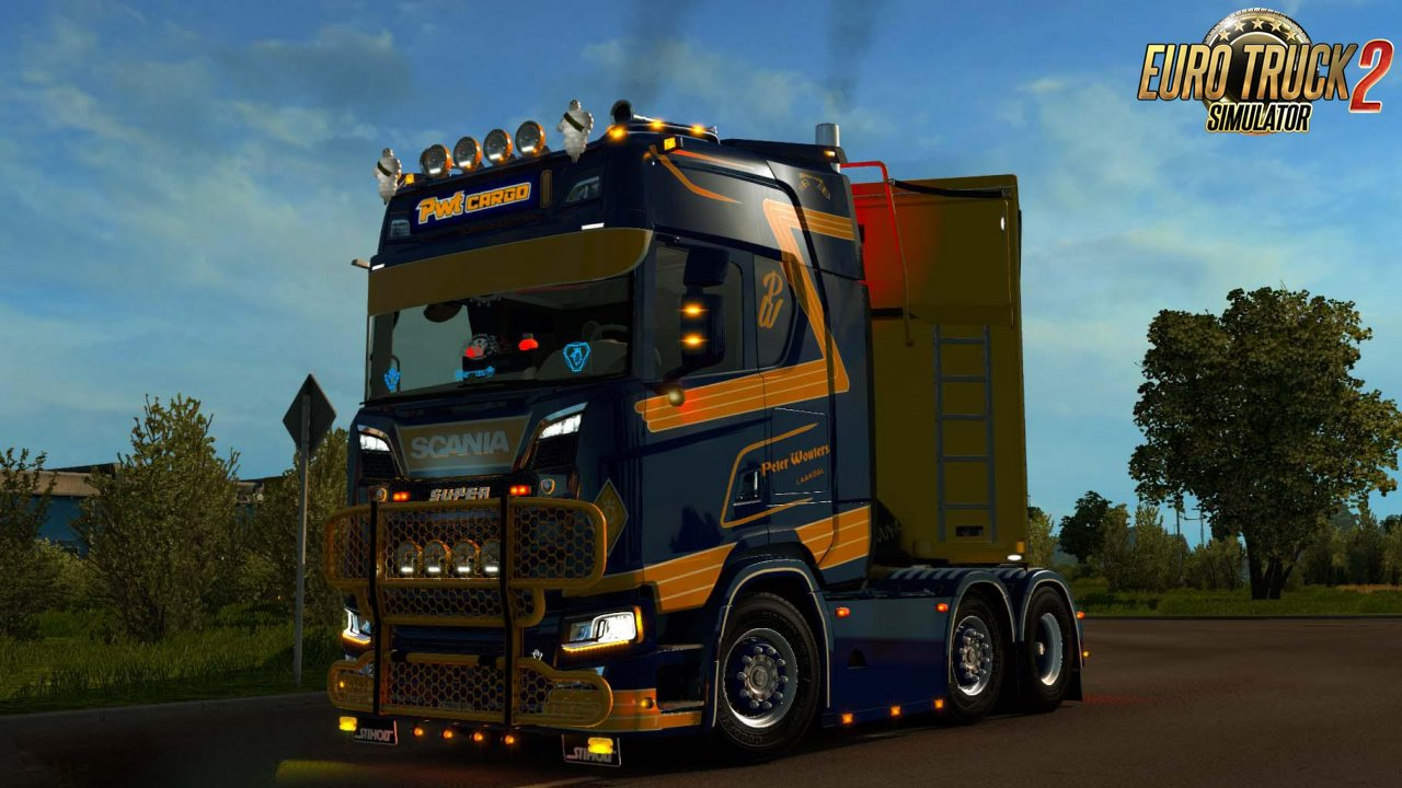 Skin PWT Cargo for Scania S + Lightbox v1.0