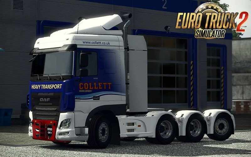 Heavy Haulage chassis addon for DAF XF Euro 6 v1.0 (1.35.x)