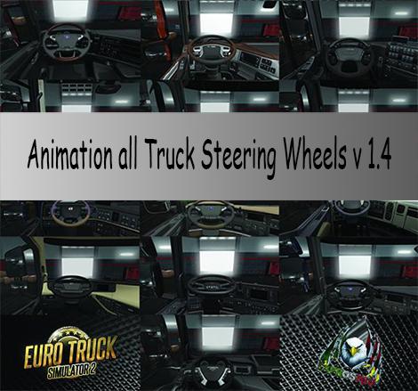 Animation all Truck Steering Wheels v1.4