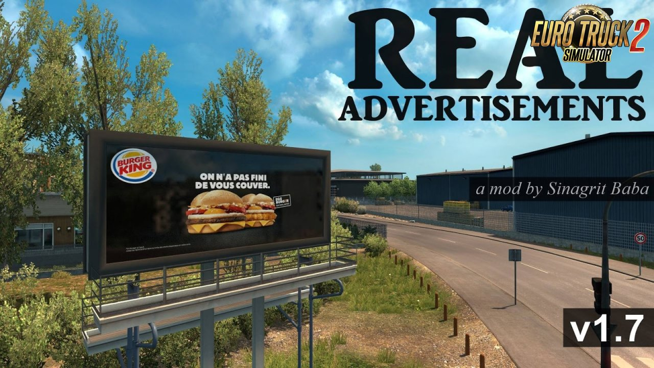 Real Advertisements v1.7 for ETS2