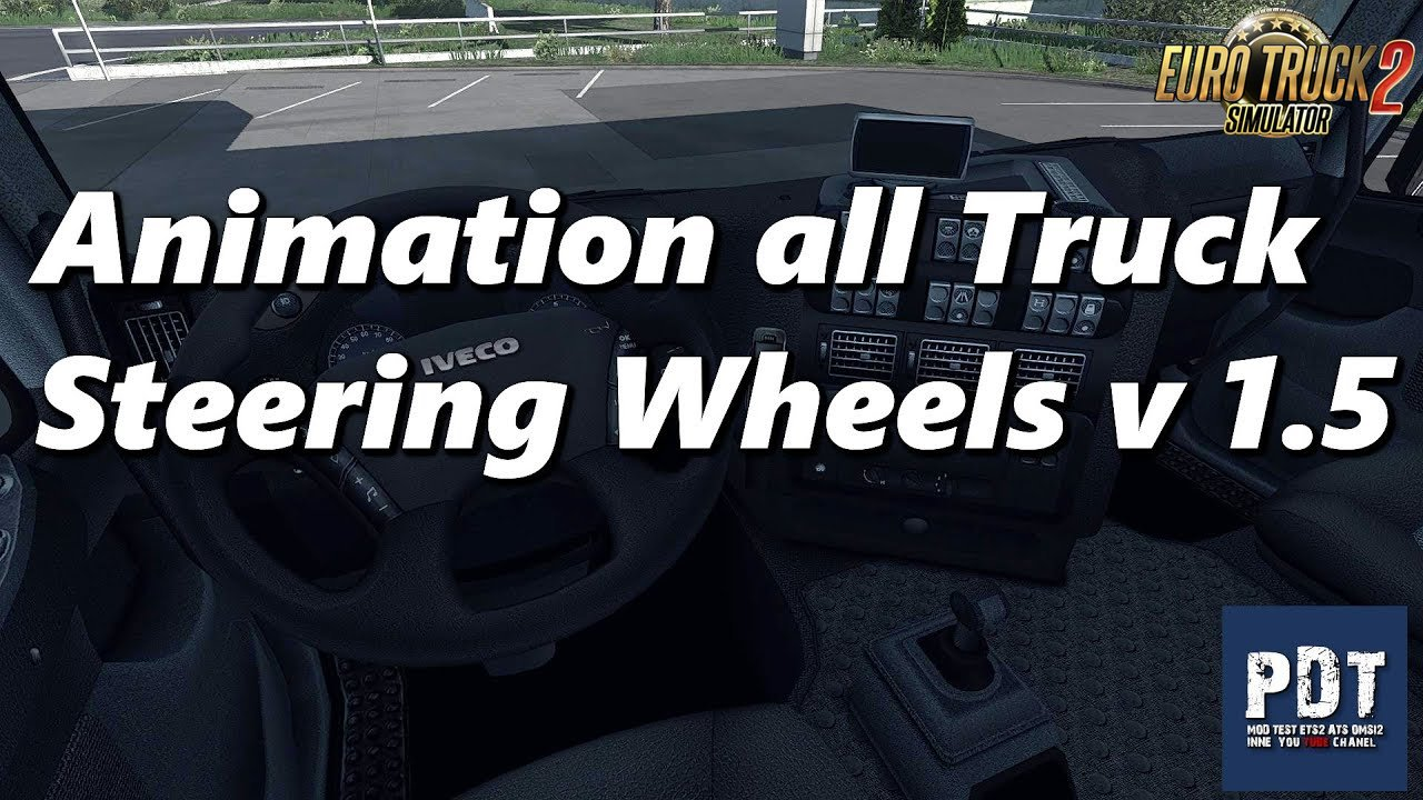 Animation all Truck Steering Wheels v1.5 by Afrosmiu (1.35.x)