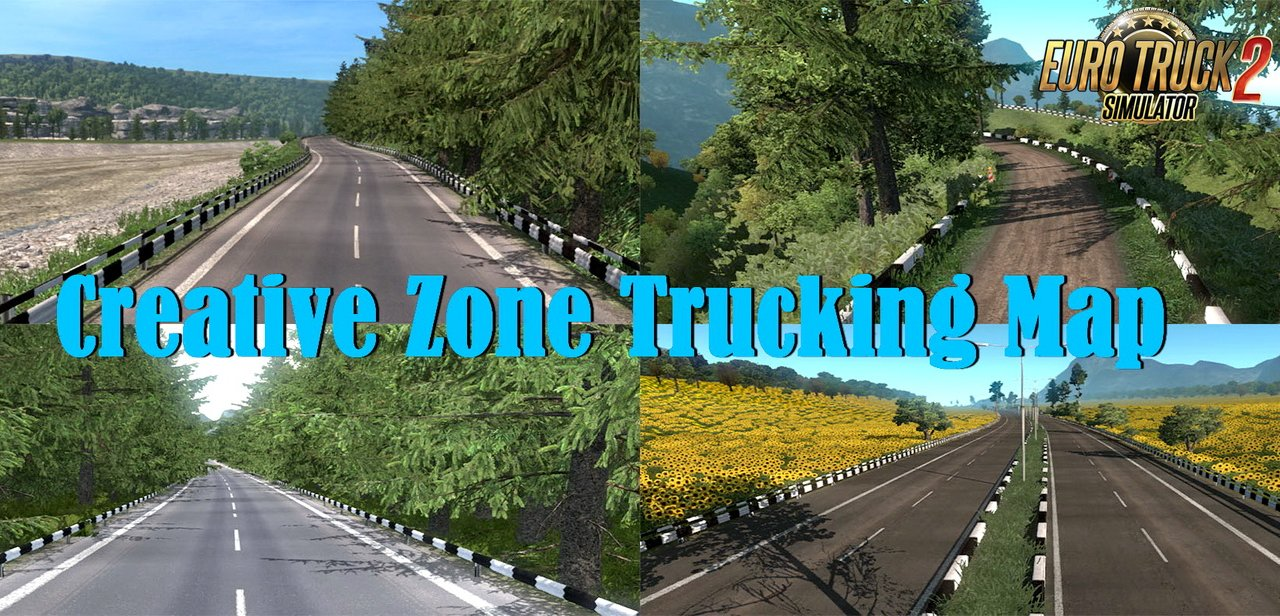 Creative Zone Trucking Map v1.3 (1.35.x) for ETS2