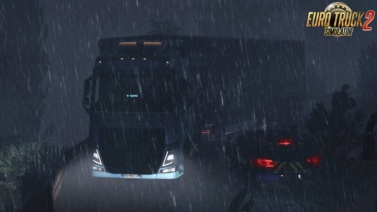 Realistic Rain & Fog & Thunder Sounds v4.0.1 - Euro Truck Simulator 2