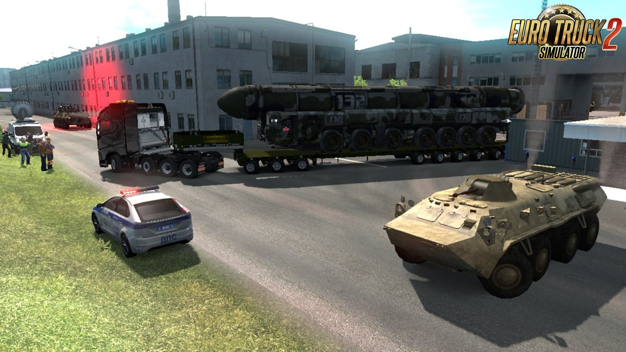 Military Oversized Cargo for DLC Beyond the Baltic Sea v2.0 (1.35.x)