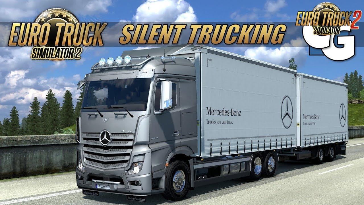 Mercedes Actros MP4 Tandem: Stuttgart to Zurich - Euro Truck 2