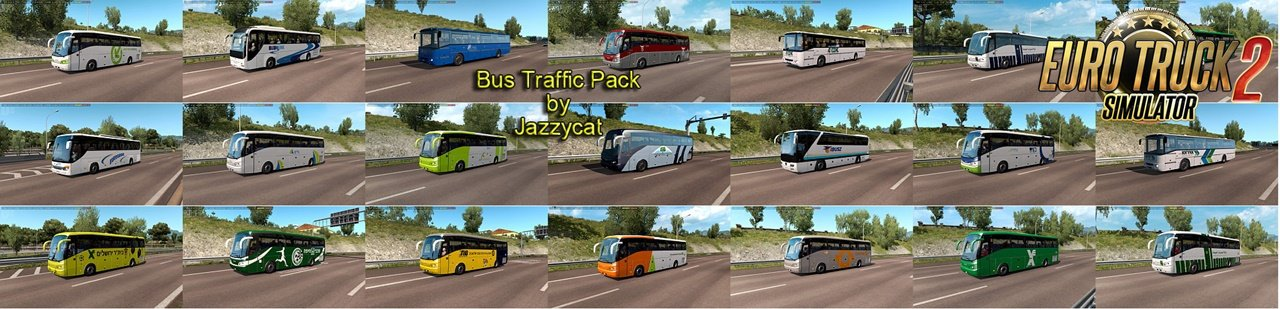 Bus Traffic Pack v7.4 by Jazzycat