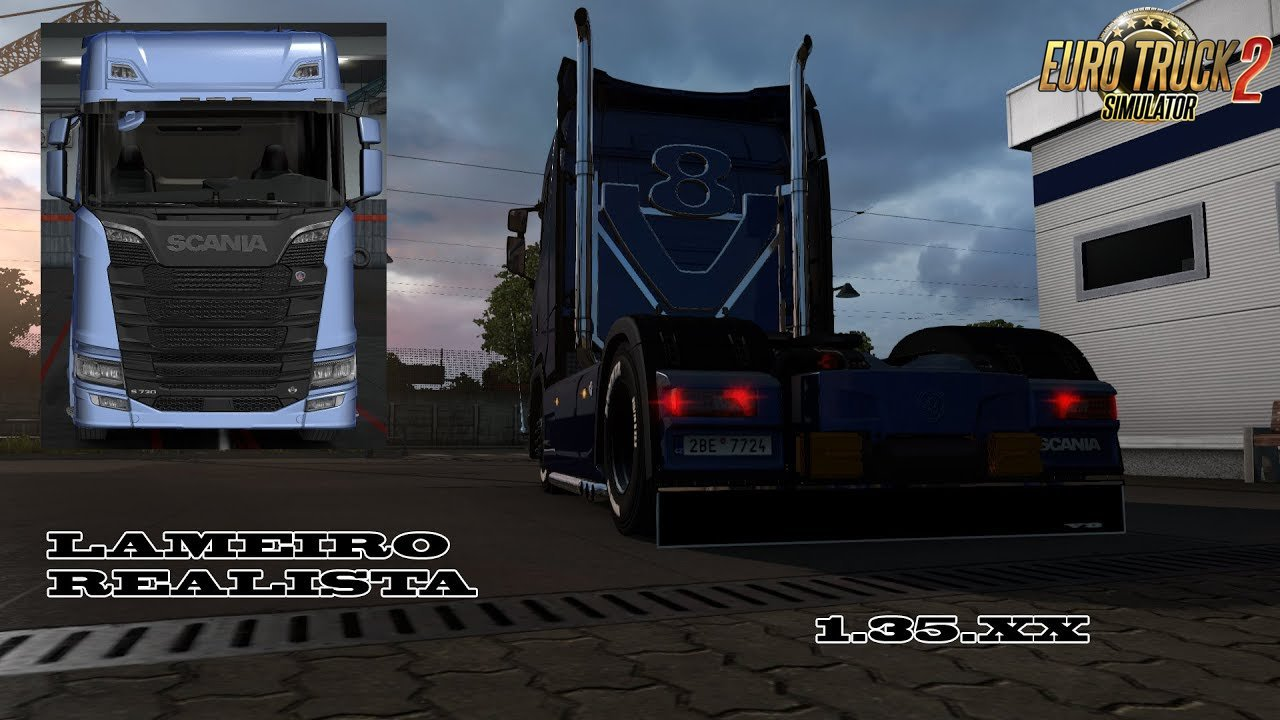 Animated mudguards for SCANIA S 2016 [1.35.X]