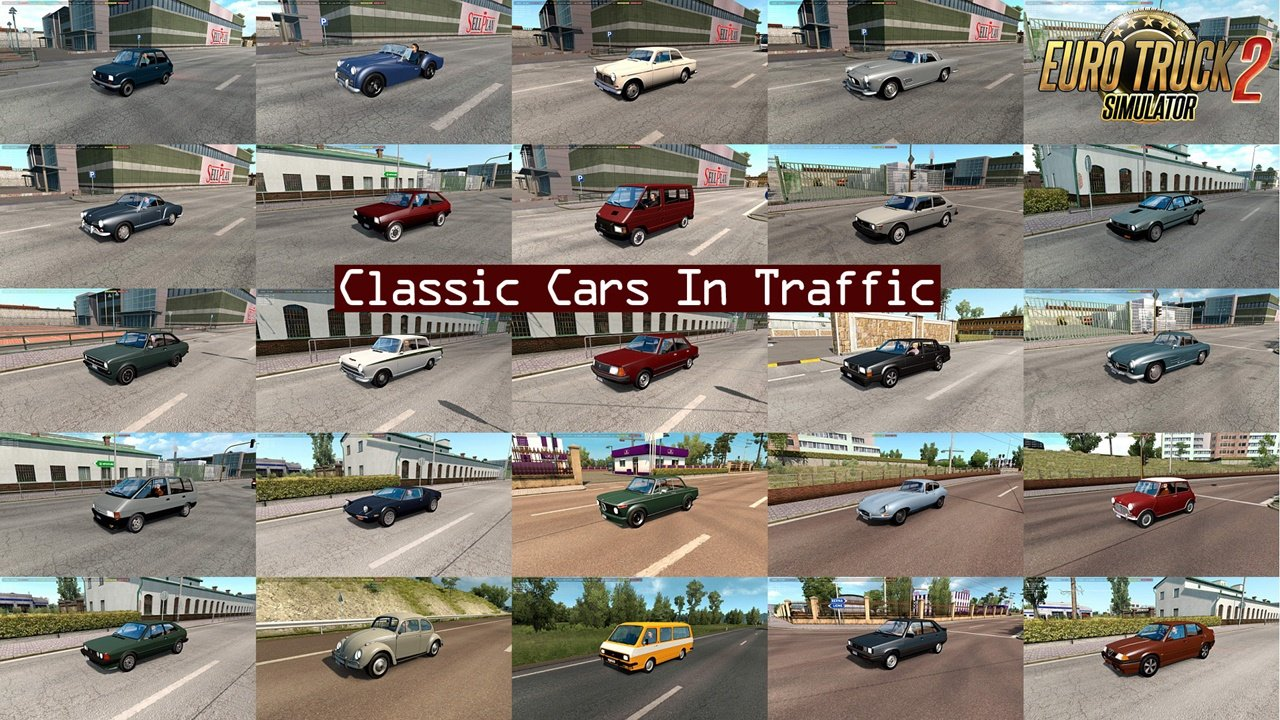 Classic Cars Traffic Pack v4.2 by TrafficManiac (1.36.x)