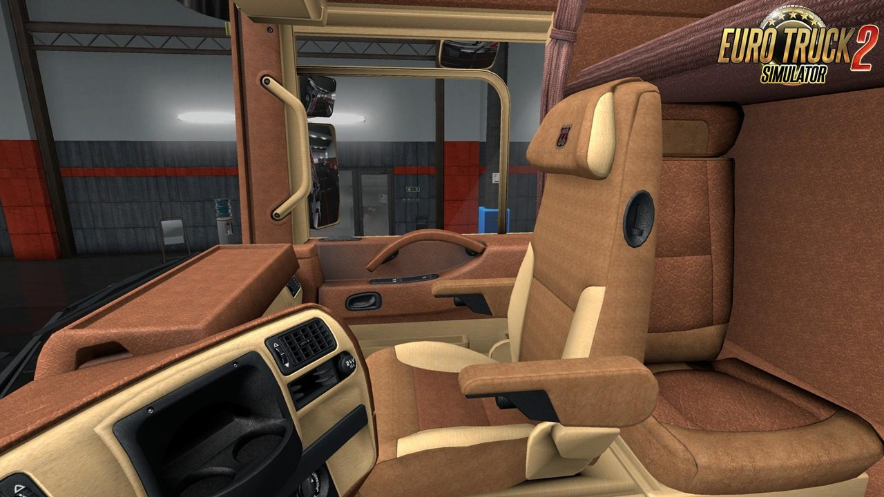 Renault Magnum Light Bordo Leather Interior for Ets2