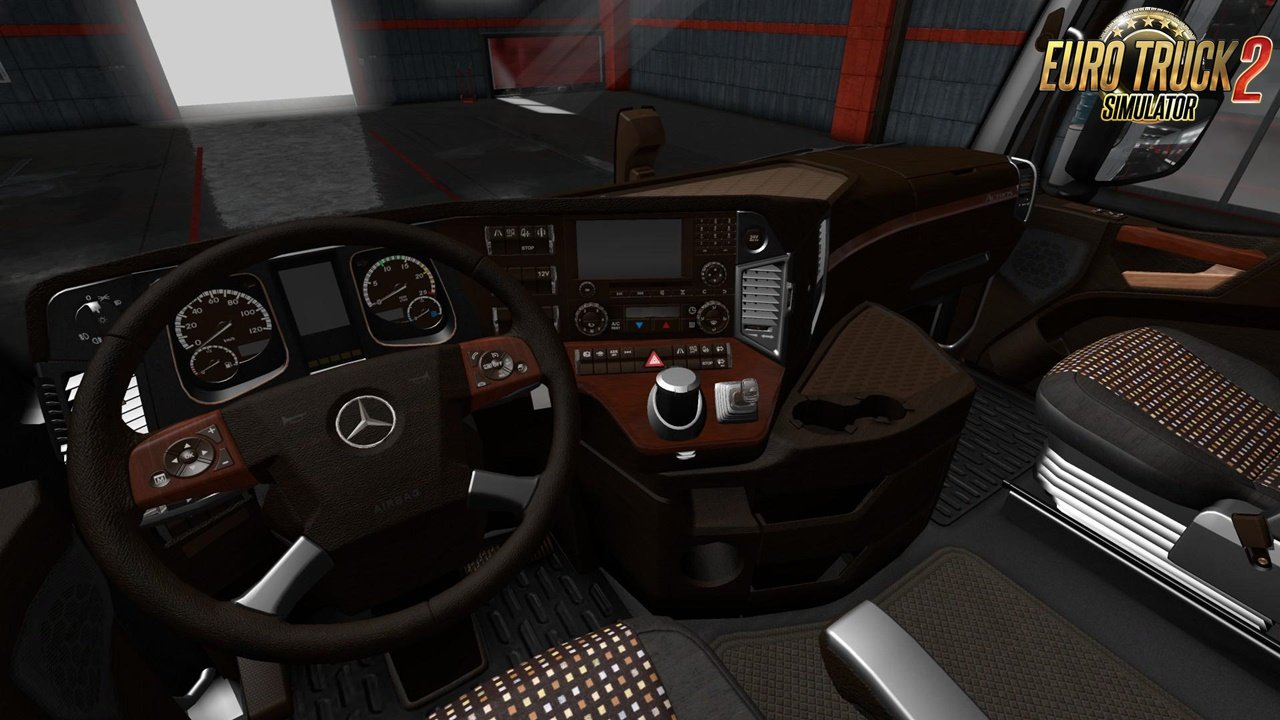 Mercedes Actros MP4 LUX Wood Interior for Ets2